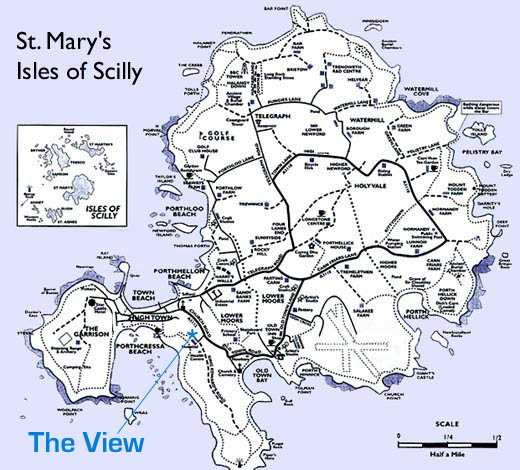 Map of St. Mary's, Isles of Scilly.